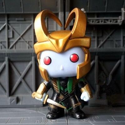 Exclusive Funko pop Utilisé Brille dans le noir Marvel: gel Géant Loki Vinyle Action Figure Collection Modèle Lâche Jouet