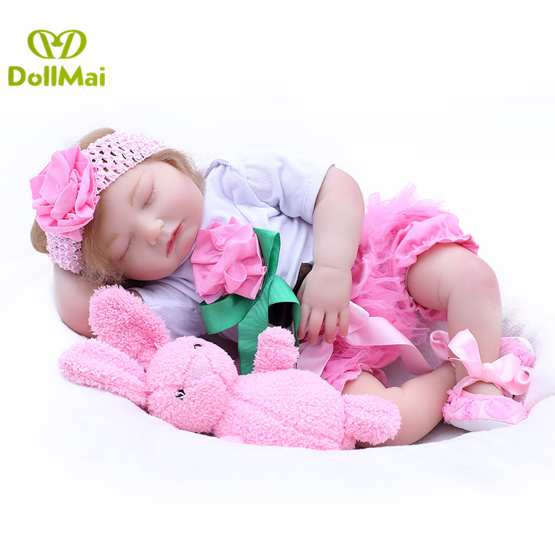 DollMai real baby newborn girl doll 2050cm silicone reborn baby dolls toys for child gift bebe alive reborn bonecas DollMai real baby newborn girl doll 2050cm silicone reborn baby dolls toys for child gift bebe alive reborn bonecas