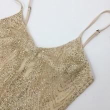 Sleeveless See Through Jewelled Glitter Sequin Dress