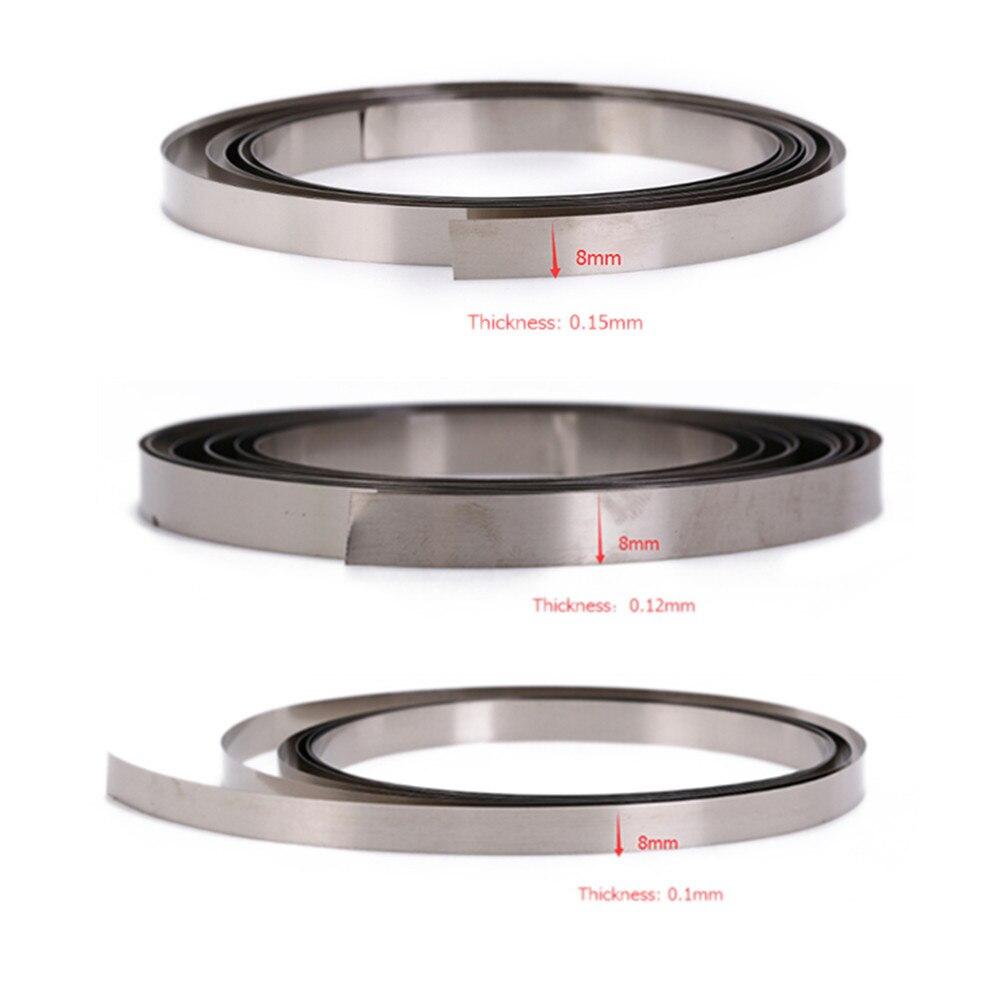 100Pcs 0.2*30*8 Nickel Plated For Battery Welder H-Type Steel Strip Sheets Ta ne