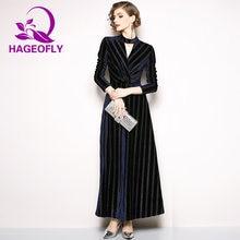 a8bd8e6b8d70 2019 Spring Gold Velvet Vintage Dress Women Long Sleeve Dark Blue Casual  Slim Fashion V-neck A-line Party Maxi Dresses Vestidos