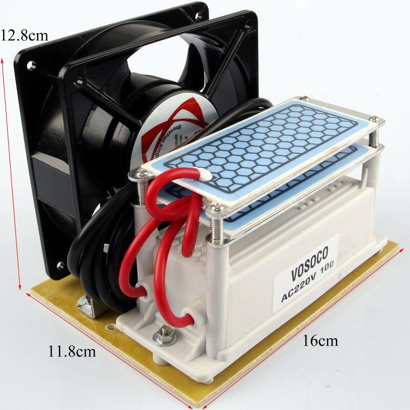 цена на Portable Ozone Generator 10g/h Ozone machine 220V fan Long Life Ceramic Plate Ozonizer water Air sterilize Purifier treatment