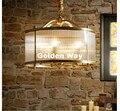 Скандинавские бронзовые цвета для ресторана  кафе  Медные подвесные лампы  подвесные лампы для спальни  обеденная светодиодная стеклянная ...