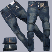 2016 fashion cotton straight Thin models young men jeans classic new denim jeans long pants men warm high quality winter jeans