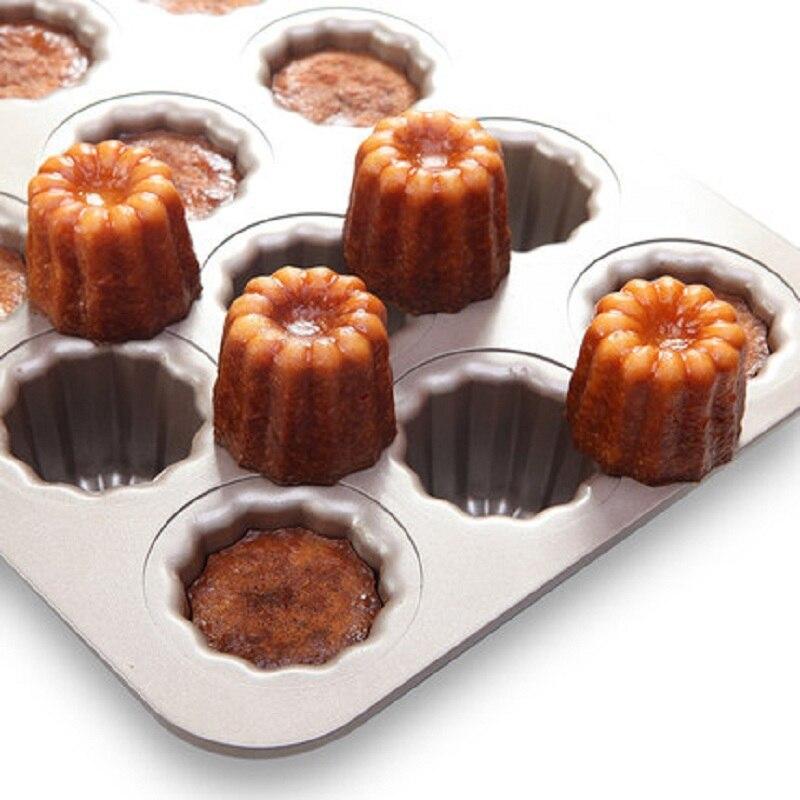 cannele moule a gateaux en metal dore antiadhesifs 12 tasses ustensiles de cuisson pour gateaux ustensiles de cuisine