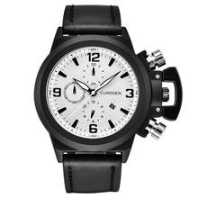 цена на 2020 Top Brand CURDEEN Leather Band Date Watches Men Big Face Casual Quartz Watch Horloge Reloj Hombre Montre Homme de Marque