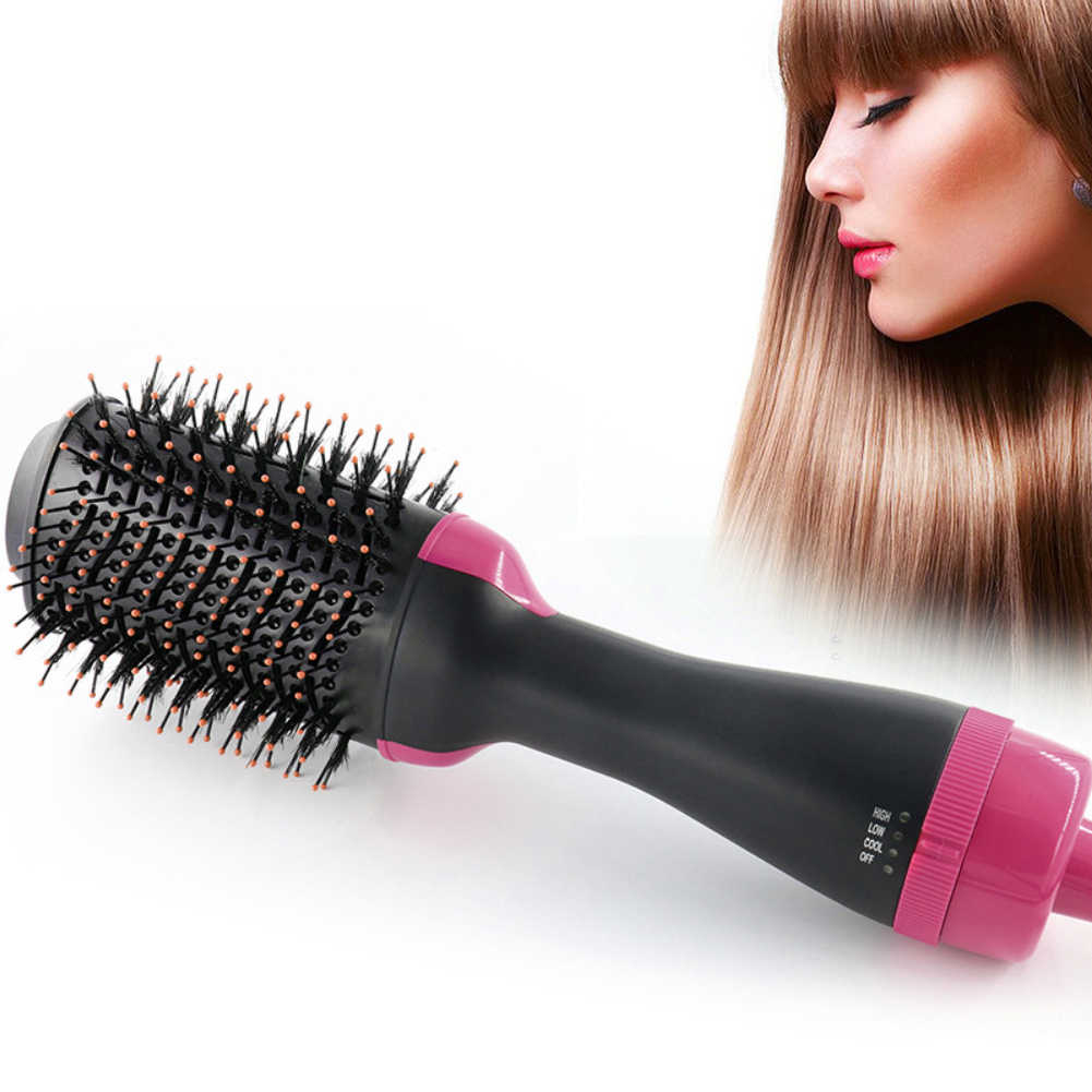 Hair Brush Hairdressing Curling Hair Dryer & Volumizer Negative Ion Generator Hair Curler Straightener Styling Tools Dropship