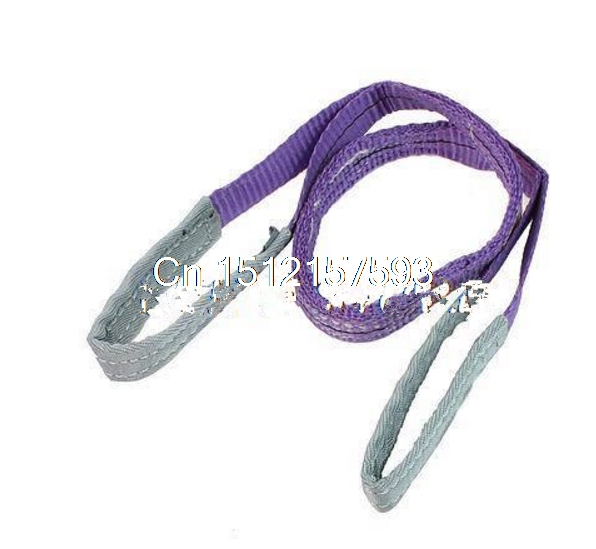 1T Straight Capacity Eye to Eye Purple Web Lifting Sling Tow Strap 3.3Ft  green 50mm width 2m 2t flat eye to eye web lifting strap tow strap