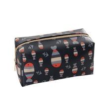 NEW-1 Pc Cartoon Cosmetic Bag Fish Pattern Women Make Up Bag Travel Floral Toiletry Bag Small Fish
