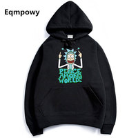 2017 Men Woman Hip Hop Cool Rick Morty Hoodie Fashion Brand Clothing Character Sweatshirts Men Pullover