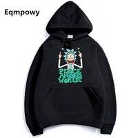 2017 Men Woman Hip Hop Cool Rick Morty Hoodie Fashion Brand Clothing Character Sweatshirts Men Pullover