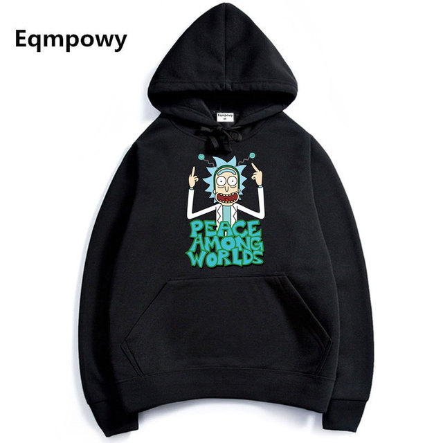 2017 Men Woman Hip Hop Cool Rick Morty Hoodie Fashion Brand Clothing  Character Sweatshirts Men Pullover Hoodies 7c0ee2d64701