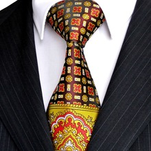 White Beige Floral Men's Ties Necktie 100% Silk Ties Various Colours