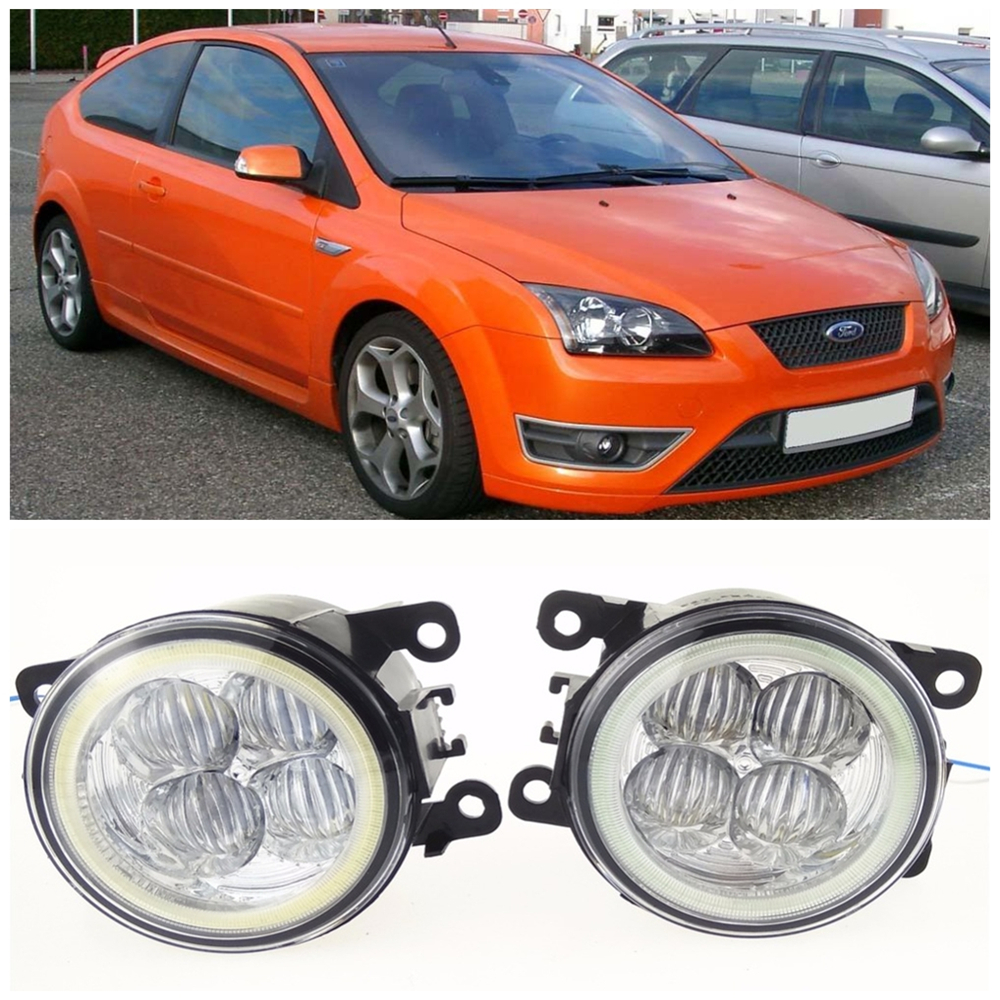 For FORD FOCUS MK2 Hatchback DA_  2004-2010 10W high brightness LED Angel eyes fog lights Car styling fog lamps for lexus rx gyl1 ggl15 agl10 450h awd 350 awd 2008 2013 car styling led fog lights high brightness fog lamps 1set