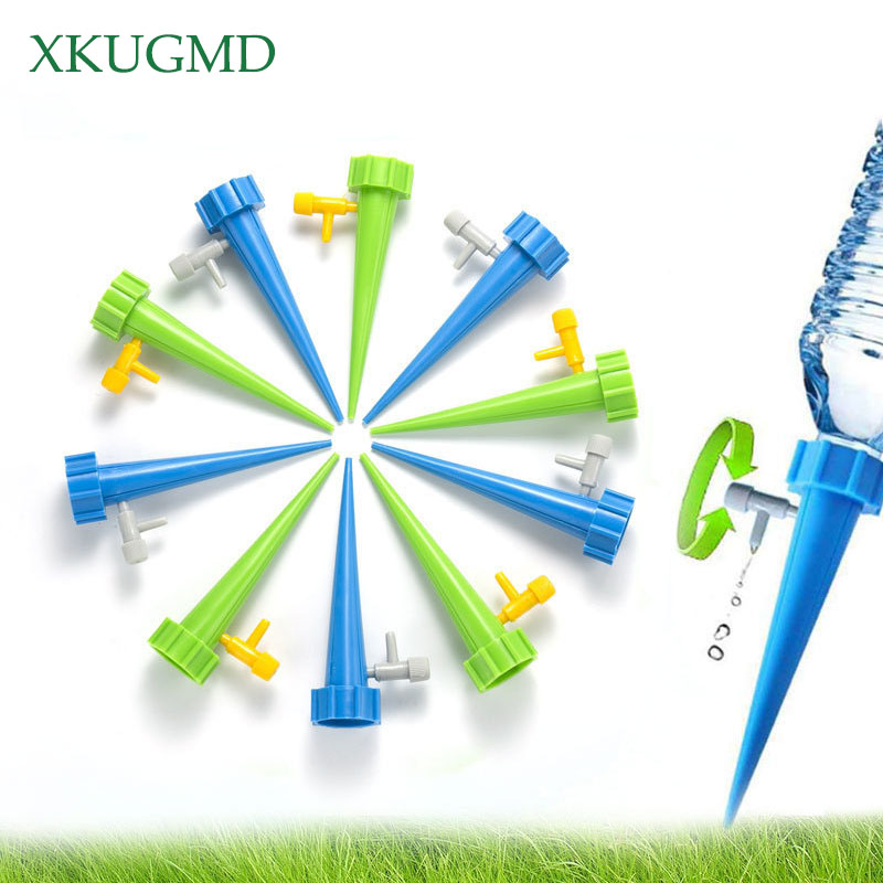 5Pcs Plant Self Watering Spikes Adjustable Stakes System Vacation Plant Waterer Self Automatic Watering Spikes Irrigation System vacation