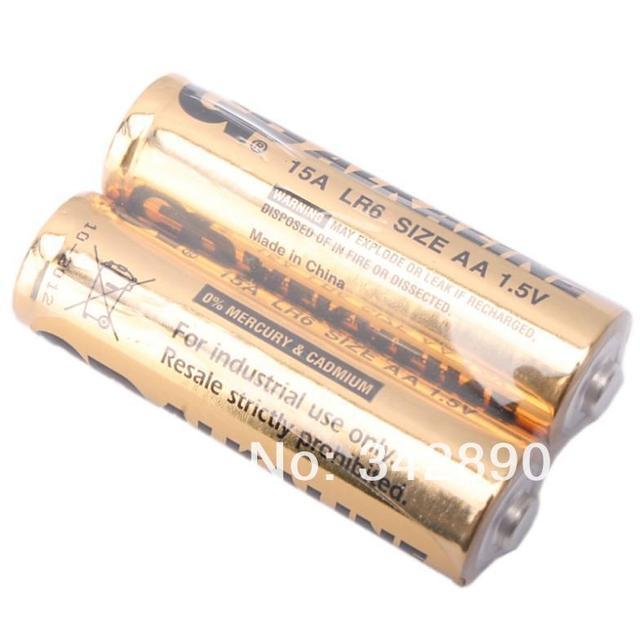 Оптовая продажа 10 шт. GP LR6 1.5 В 15A щелочные Батареи золото Бесплатная доставка