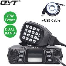 Qyt KT 980Plus 75W Super Power Dual Band Mobiele Radio 136 174Mhz/400 480Mhz Voor auto Mobiele Radio Qyt Autoradio Kt 980 Plus