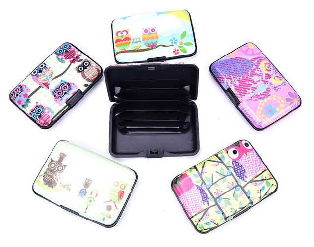 Kawaii owl 6 pockets plastic box design card holder credit bank kawaii owl 6 pockets plastic box design card holder credit bank card case 6 styles reheart Choice Image