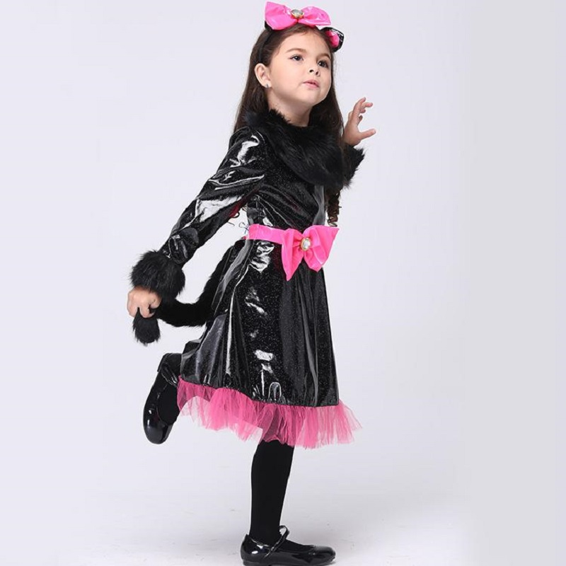 Halloween Costume For Girls Catwoman Costume Performance Dancing Dress Kids Long Sleeve Party Cosplay Skirt Stage Wear-in Girls Costumes from Novelty ...  sc 1 st  AliExpress.com & Halloween Costume For Girls Catwoman Costume Performance Dancing ...