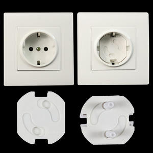 Rotate-Cover Security-Locks Electric-Protection-Socket Safety Round Plastic Against Baby