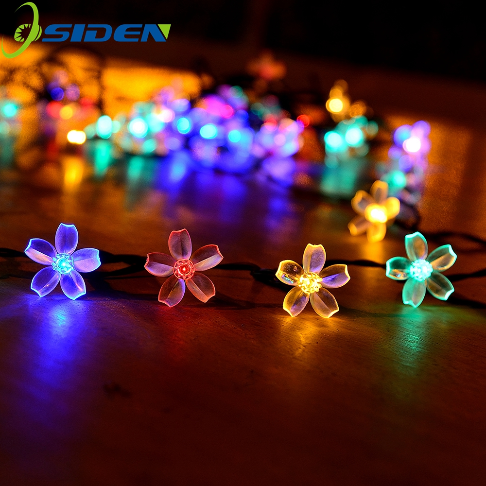 220v /110v Power Fairy String Lights 5m 20m 10m 100 LED Peach Blossom Decorative Garden Lawn Patio Christmas Trees Wedding Party