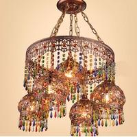 Southeast Asia Thai Style Crystal pendant light Bohemia Living Room Bedroom Restaurant Beauty Salon Yoga pendant lamp WL5051141