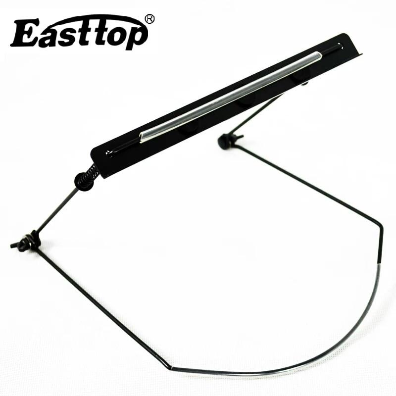EASTTOP High Quality 24 Holes Harmonica Neck Holder Mouth Organ Stand Harmonica Harp Rack Metal black