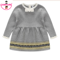 Campure Fashion Autumn Winter Newborn Baby Girls Sweater Princess Dress Infant Knit Gress Kids Little Girl