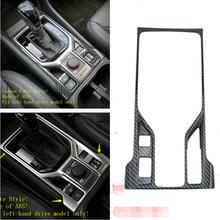 Yimaautotrims Stalls Gear Shift Box Cover Trim ABS Fit For Subaru Forester 2019 Interior Mouldings Matte / Carbon Fiber Look yimaautotrims middle control gear shift multimedia cover trim interior mouldings fit for mercedes benz gle w166 2016 2017 2018