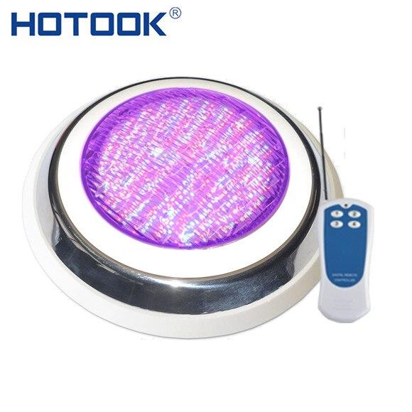 HOTOOK Luces Bajo El Agua LED De Acero Inoxidable Piscina Luces RGB 12 V Montado En La Pared De La Lámpara IP68 Multi-Color Para Acuario Luz