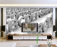 3d wallpaper 3D three dimensional letters modern minimalist living room backdrop custom 3d wallpaper 3d customized wallpaper