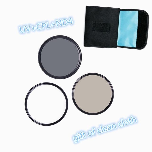 RISE (UK) Camera Filter UV & a Polarizing Filter  & ND Filter 49mm/52mm/55mm/58/62/67MM Filter for Sony Nikon Camera