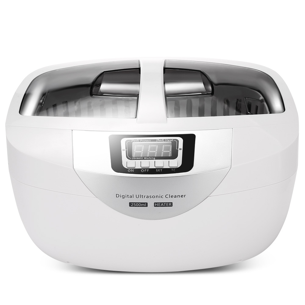 Digital Ultrasonic Cleaner Baskets Jewelry Watches Dental 2.5L 60W 40kHz Heating Ultrasound Ultrasonic Vegetable Cleaner Bath uv screen ultrasonic bath cleaner for jewelry watches glasses 750ml 50w 40khz mini ultrasonic cleaner injector ring