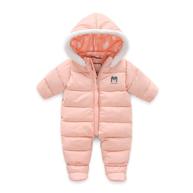 3acf20092148 Winter Jumpsuit for Babies Newborn Baby Girls Boys Rompers Warm ...