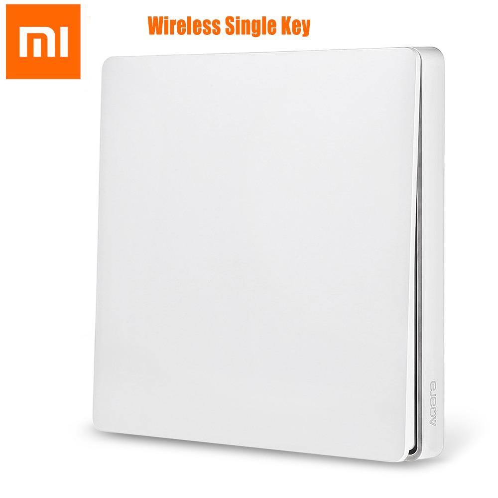 Xiaomi Aqara Wall Switch Smart Wireless Light Switch ZigBee Version Single/Double Key freeshipping rs232 to zigbee wireless module 1 6km cc2530 chip