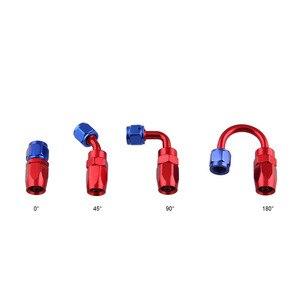 Универсальный шланг AN 4 6 8 10 12 для масла/топлива/шарнирного соединения, алюминиевый адаптер, многоразовый штуцер для масла и топлива, шланг на 4 градусов