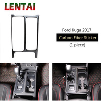 LENTAI Auto Car Styling Carbon Fiber Interior Gear Shift Water Cup Panel Sticker For Ford Kuga C520 Escape 2017 2018 Accessories