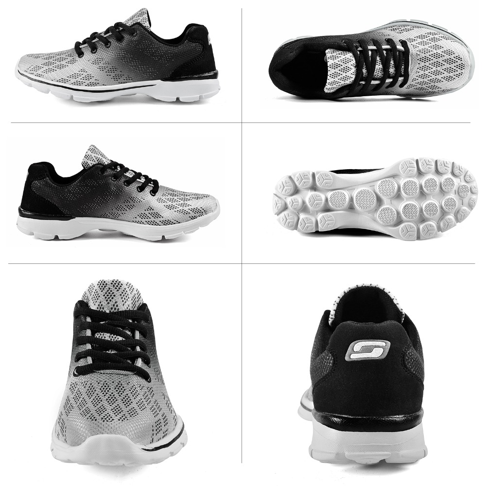 QANSI New Gradually Changing Color Women Running Shoes Spring Autumn Breathable Shoes Outdoor Sport Sneakers For Female 1678W 28