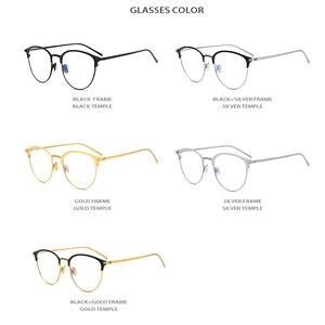 Image 5 - Reinem Titan Brillen Rahmen Frauen Retro Runde Myopie Optische Rahmen Brillen für Männer Vintage Licht Brillen brillen