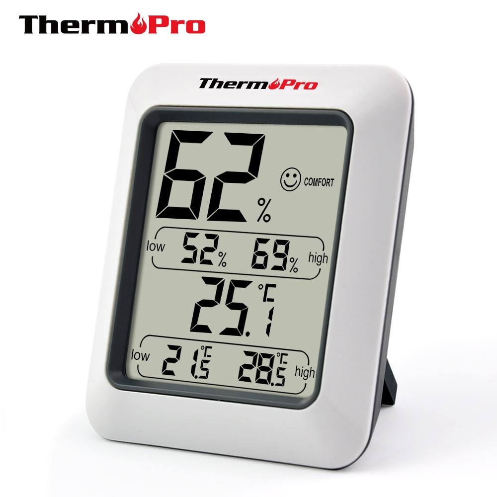 Thermopro TP50 LCD Ad Alta precisione Igrometro Termometro Digitale Indoor Elettronico della Temperatura Misuratore di Umidità Stazione Meteo