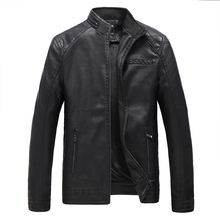 BOLUBAO 2018 New Autumn Brand Mens Slim Leather Jacket Male Casual Men Motorcycle Coats And Jackets