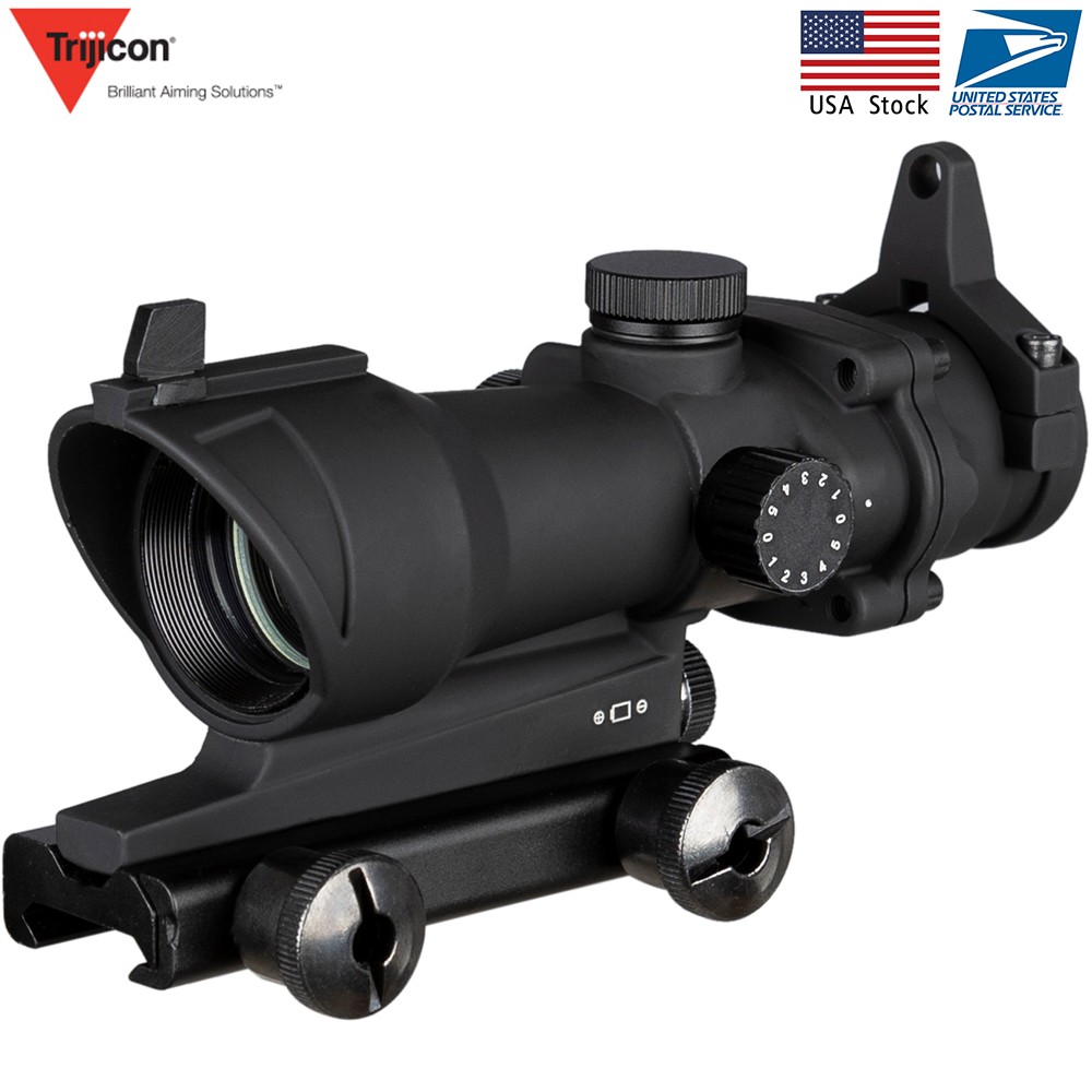 Acog 1x32 Green And With Red Dot Sight Tactical Shooting /hunting Scope Riflescope Hunting