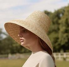 01812 hh7266 2019 new desige summer handmade high top paper straw lady  sun cap  women leisure holiday beach  hat