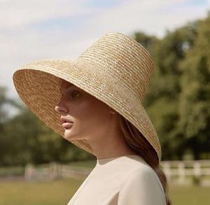 Image 1 - Новинка 2019, дизайнерская летняя соломенная шляпа ручной работы с высоким верхом 01812 hh7266, Женская Солнцезащитная шляпа для отдыха, пляжа