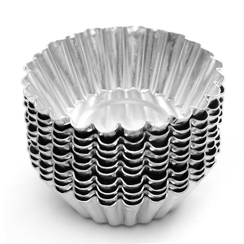 Reusable Metal Cupcake Baking Molds 10 pcs Set