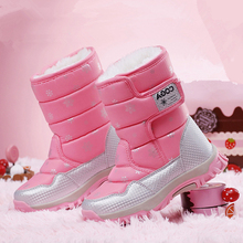 Hot Sale Kids Snow boots winter ankle boots girls shoes plus size  2017 fashion heels boys winter shoes for children