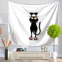 高品質ポリエステル風呂ビーチタオル黒猫プリント乾燥手ぬぐい水
