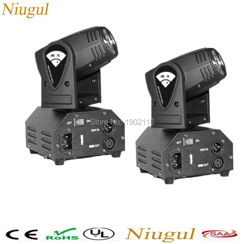 цена на 2pcs/lot 10W RGBW Mini LED Beam Moving Head Light/10W LED Wedding Party Lights/DMX512 Stage Light Effect/Lamp/LED Disco Lighting
