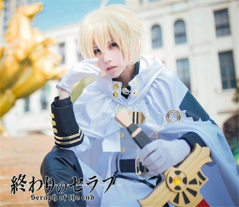 Seraph Of The End Cosplay Costume Owari no Seraph Mikaela Hyakuya Cosplay Costume High Quality Wig Uniforms Full Set A500