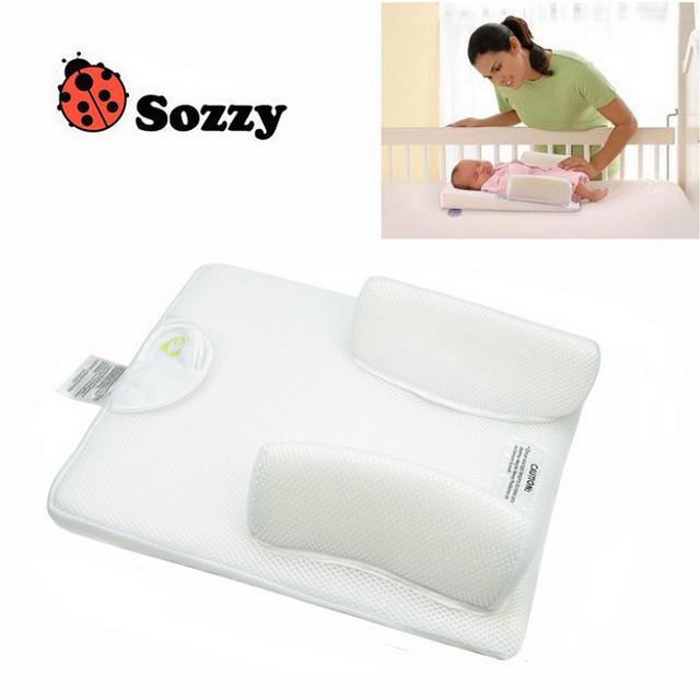 Bebê travesseiro Anti Roll posicionador sono infantil 0-6 meses recém-nascido dormir travesseiro de enfermagem sono sistema de ventilação